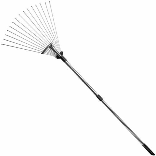 1. gonicc 63 inch Professional Adjustable Garden Leaf Rake, Expanding Metal Rake - Adjustable Folding Head from 7 Inch to 22 Inch