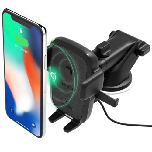 1. iOttie Easy One Touch Wireless Qi Fast Charge Car Mount Kit Fast Charge