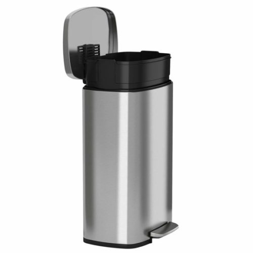 1. iTouchless SoftStep 13.2 Gal Stainless Steel Step Trash Can, Pedal Bathroom Bin, Kitchen, Office