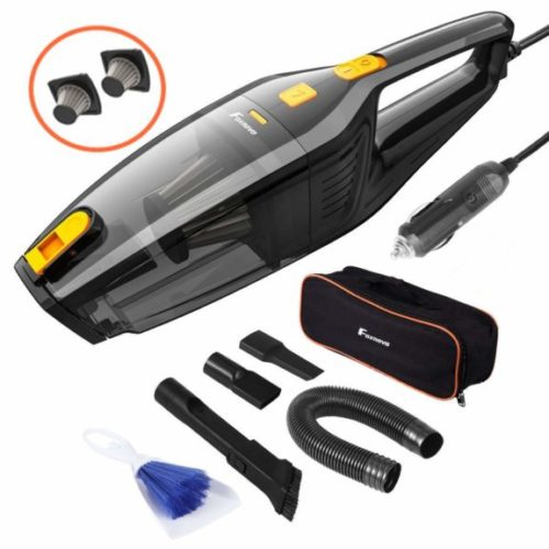 10. Foxnovo Car Vacuum Cleaner, DC 12V 120W High Power, Wet Dry Portable Handheld Auto Vacuum Cleaner for Car
