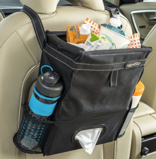 10. High Road Puff'nStuff Car Trash Bag and Back Seat Organizer (Black)
