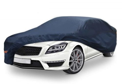 10. YITAMOTOR Waterproof Car Cover with Lock Universal Fit Full Protection Breathable PEVA All Weather Heat Sun Snow