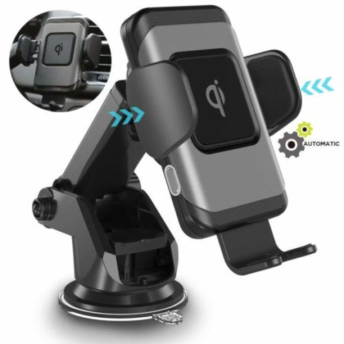 10. ZeeHoo Wireless Car Charger,10W Qi Fast Charging Auto-Clamping Car Mount,Windshield Dashboard Air Vent Phone Holder Compatible