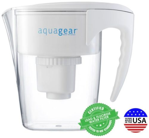 10.Aquagear-Water-Filter-Pitcher-Fluoride-Lead-Chloramine-Chromium-6-Filter-BPA-Free-Clear