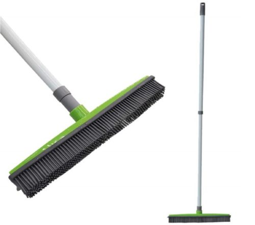 0.FamilyDate-2.3-ft-to-4.5-ft-TPR-Natural-Telescoping-Handle-Pet-Hair-Remover-Rubber-Broom-with-Squeegee-Push-Broom-Carpet-Broom-Pet-Hair-Removal-No-Dead