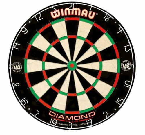 10.Winmau Diamond Plus Tournament Bristle Dartboard with Staple-Free Bullseye for Higher Scores and Fewer Bounce-Outs