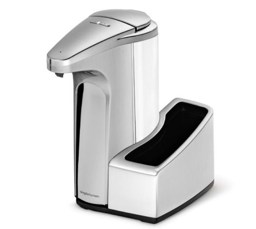 10.simplehuman-13-fl.-oz-Touch-Free-Automatic-Sensor-Soap-Pump-With-Removable-Caddy-Brushed-Nickel