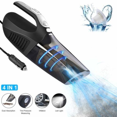 11. Cafele Car Vacuum Cleaner, 4 in 1 High Power 12V 120W Wet,Dry Auto Portable Handheld Vacuum Cleaner