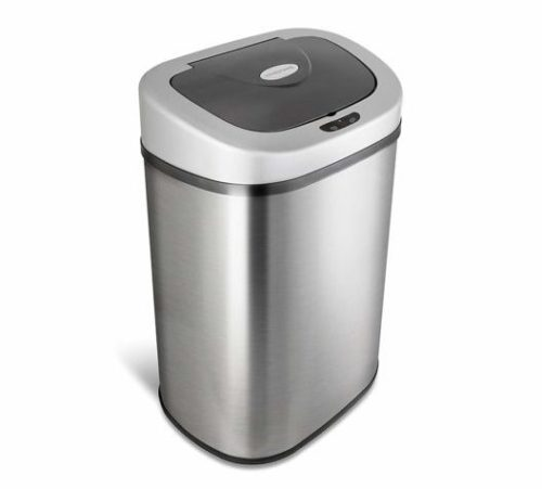 11. NINESTARS Automatic Touchless Infrared Motion Sensor Trash Can with Stainless Steel