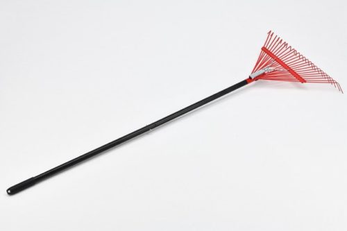 11. SPAI 24-Inch Heavy Duty Spring leaf Rake with 2pcs Steel Handles