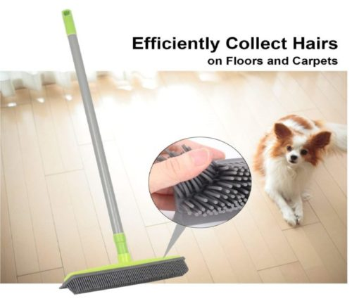 11.Iamagie-Push-Broom-Long-Handle-Rubber-Bristles-Sweeper-Squeegee-Edge-59-inches-Non-Scratch-Bristle-Broom-for-Pet-Cat-Dog-Hair-Carpet-Hardwood-Tile-Windows