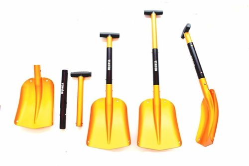 11.KAMINUO-Portable-Colorful-Telescopic-Aluminum-Car-Adjustable-Extended-Edition-Snow-Shovel-Golden