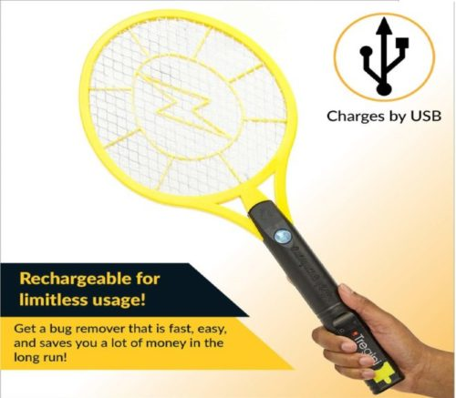 12.Tregini-Large-Electric-Fly-Swatter-2-Pack-–-Rechargeable-Bug-Zapper-Tennis-Racket-with-Safe-to-Touch-Mesh-Net-and-Built-in-Flashlight-Kills-Insects-Gnats.