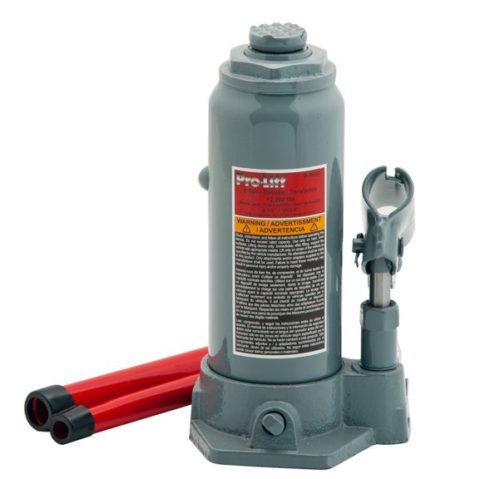 13. Pro-Lift B-006D Grey Hydraulic Bottle Jack - 6 Ton Capacity