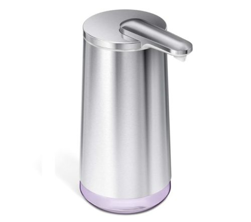 13.simplehuman-Touch-Free-Automatic-Foam-Cartridge-Sensor-Soap-Pump-With-Lavender-Foam-Soap-Cartridge-Brushed-Stainless-Steel-Rechargeable
