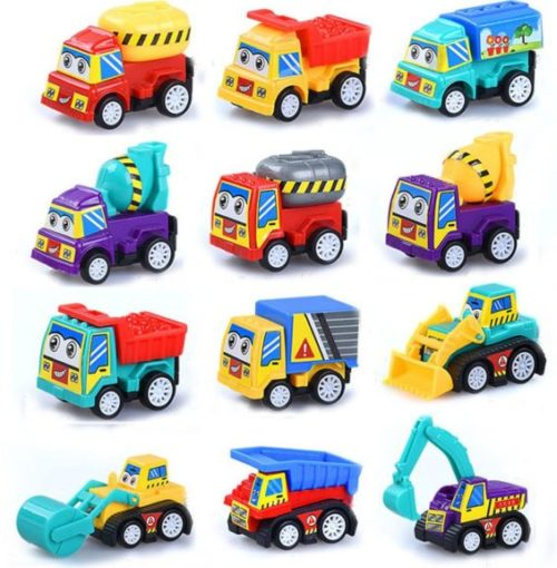 14. M-jump Pull Back Vehicles , 12 Pack Assorted Construction Vehicles Toy , Vehicles Truck Mini Car Toy For Kids Toddlers Boys