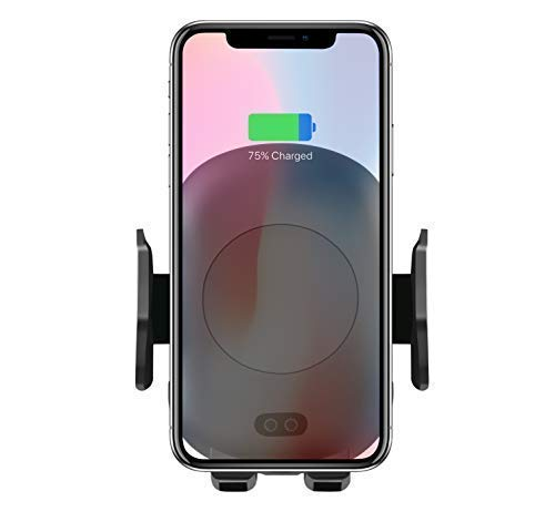 14. TOOBOSS Wireless Car Charger, Auto-Clamp Qi Car Mount, Fast Infrared Car Mount Wireless Charger 10W Qi Wireless Charger Phone Holder Compatible