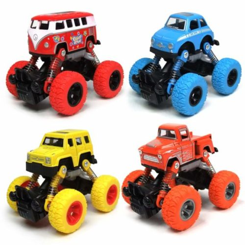 15. WizToyz Toddler Toys Pull back Cars, 4-Pack Cars Toys Boys Toys, Pull Back Vehicles with Shockproof Spring and Textured Rubber Tires