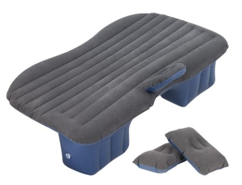2. HAITRAL Car Inflatable Bed Protable Camping Air Mattress with 2 Air Pillows Universal SUV