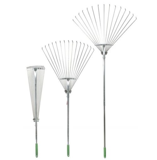 2. Professional EZ Travel Collection Telescopic Rake Folding Rake Garden Rake Heavy Duty Foldable Rake