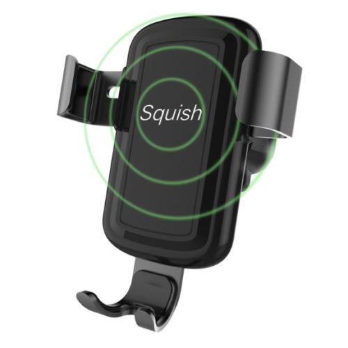 2. Squish Wireless Charger Car Mount Adjustable Gravity Air Vent Phone Holder for iPhone Samsung Nexus Moto OnePlus HTC Sony Nokia and Android Smartphones Qi Certified