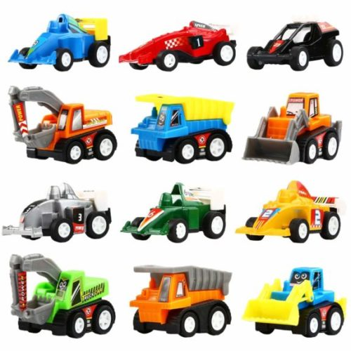 2. Yeonha Toys Pull Back Vehicles, 12 Pack Mini Assorted Construction Vehicles & Race Car Toy, Vehicles Truck Mini Car Toy for Kids Toddlers Boys Child