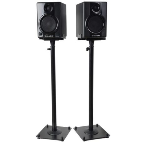 2.VideoSecu-2-Heavy-duty-PA-DJ-Club-Adjustable-Height-Satellite-Speaker-Stand-Mount-Extends-26.5-to-47-i.e.-Bose-Harmon-Kardon-Polk-JBL-KEF-Klipsch