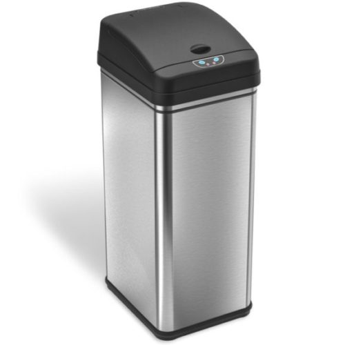 3. iTouchless 13 Gallon Stainless Steel Automatic Trash Can with Odor-Absorbing Filter, Wide Opening Sensor Kitchen Trash Bin