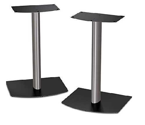 4.Bose-FS-1-Bookshelf-Speaker-Floor-Stands-pair-Black-and-Silver