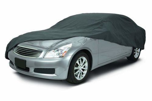 5. Classic Accessories OverDrive PolyPro 3 Heavy Duty Full Size Sedan Car Cover