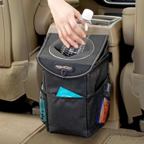 5. High Road StashAway Car Trash Can with Lid and Storage Pockets