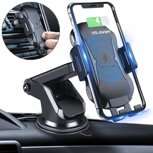 5. Homder Automatic Clamping Wireless Car Charger Mount, 10W,7.5W Qi Fast Charging Car Phone Holder,Windshield Dashboard Air Vent Compatible
