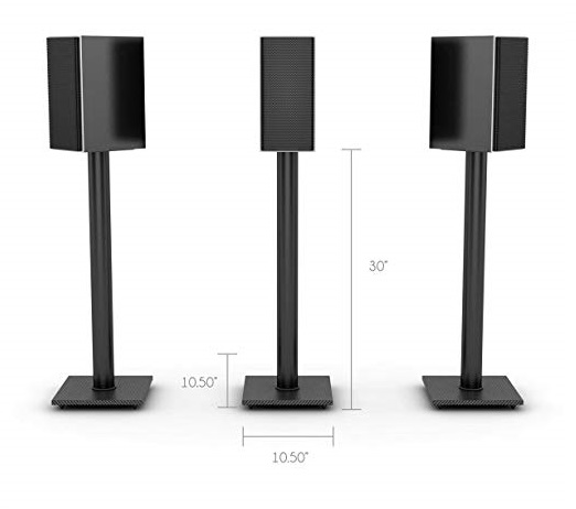 5.Atlantic-77335799-Speaker-Stands-for-Bookshelf-Speakers-up-to-20-lbs-Pair-Black