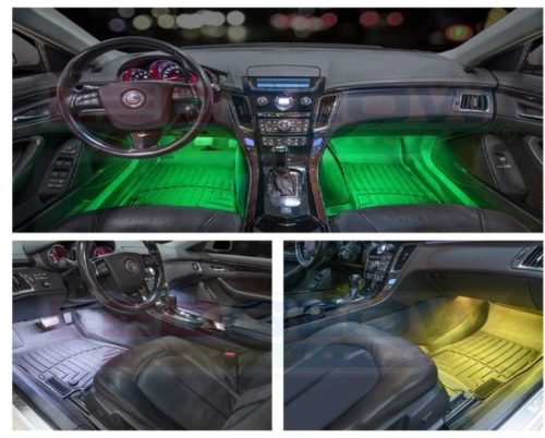 5.LEDGlow-4pc.-Multi-Color-LED-Car-Interior-Underdash-Lighting-Kit-Universal-Fitment-Music-Mode-Auto-Illumination-Bypass-Mode