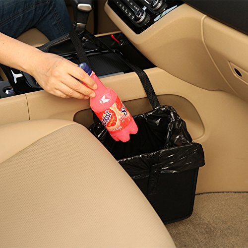 6. KMMOTORS Jopps Comfortable Car Garbage Bin Original Patented Portable Drive Bin Premium Hanging Wastebasket