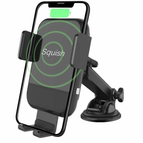 6. Squish Wireless Car Charger Mount, Auto-Clamping Qi Fast Wireless Charger Phone Holder for Car Dashboard Windshield for iPhone Xs