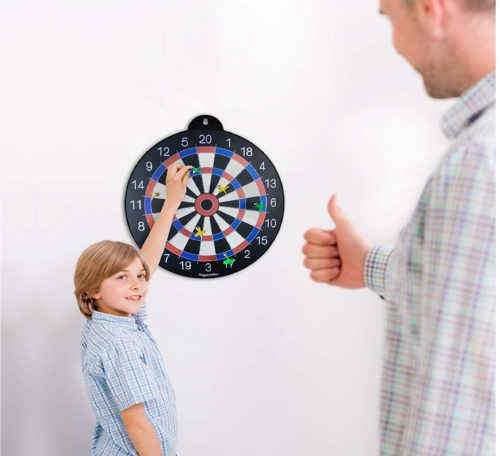6.GIGGLE-N-GO-Magnetic-Dart-Board-Our-Indoor-Dart-Board-for-Kids-is-Reversible-and-Easy-to-Set-Up-Magnetic-Darts-is-a-Safe-Indoor-Darts-Option-and-is-the.