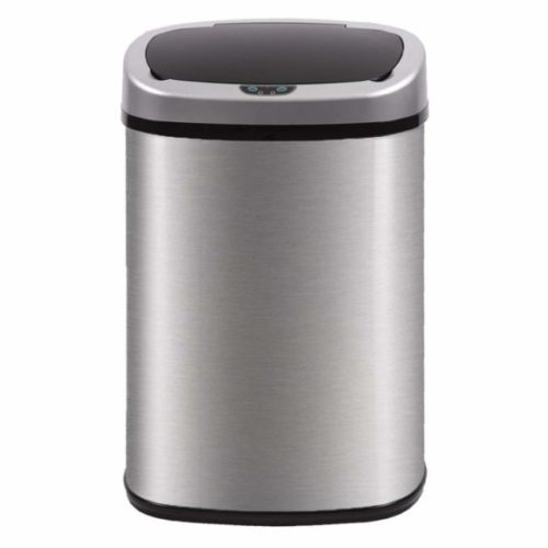 7. BestOffice Automatic Kitchen Trash Can Brushed Stainless Steel