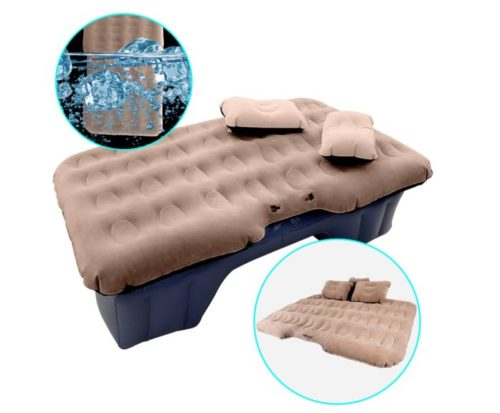 7. HIRALIY Car Inflatable Mattress Portable Travel Camping Air Bed Foldable Couch with Electric Pump