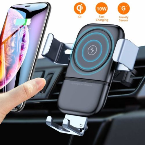 7. VANMASS Wireless Car Charger Mount, Automatic Clamping Gravity Sensor Car Phone Mount