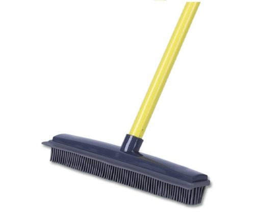 7.Push-Broom-Soft-Bristle-59-Rubber-Broom-Carpet-Sweeper-with-Squeegee-Adjustable-Long-Handle-Removal-Pet-Human-Hair.