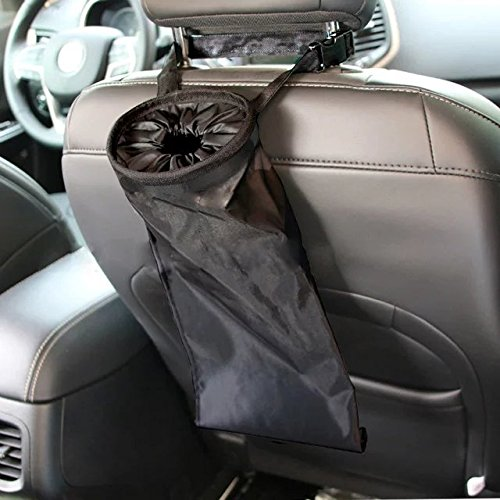 8. IPELY Car Vehicle Back Seat Headrest Litter Trash Garbage Bag (Black)
