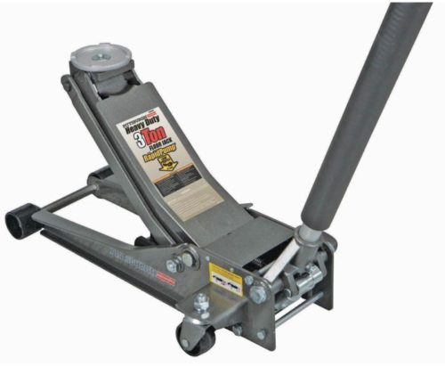 8. Pittsburgh Automotive 3 Ton Heavy Duty Ultra Low Profile Steel Floor Jack with Rapid Pump Quick Lift