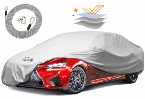 8. XCAR Breathable Dust Prevention Car Cover-Fits Sedan Hatchback Up to 200 Inch in Length
