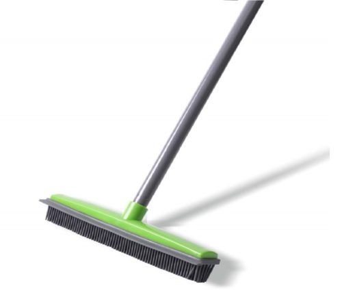 8.Push-Broom-Soft-Bristle-59-Rubber-Broom-Carpet-Sweeper-with-Squeegee-Adjustable-Long-Handle-Removal-Pet-Human-Hair.