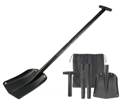 9.COFIT-43-Extra-Long-Handle-Retractable-Snow-Shovel-of-Aluminum-Alloy-for-Car-Outdoor-Camping-and-GardenFour-Piece-Construction