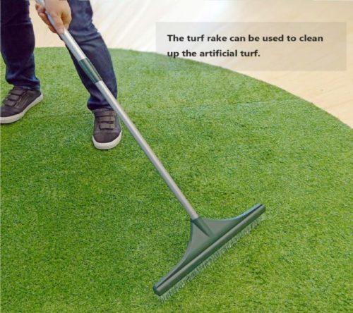 9.ORIENTOOLS-Turf-Rake-Ergonomic-Adjustable-Lightweight-Steel-Handle-Plastic-Head-with-PA-Brush-32-to-52-inches-Carpet-Rake.