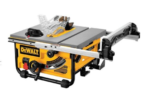 1.DEWALT 10-Inch Table Saw, 16-Inch Rip Capacity (DW745)