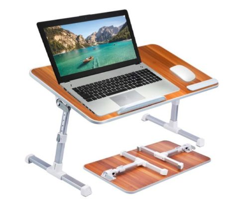 1.Large Size Neetto TB101L Adjustable Laptop Bed Table, Portable Standing Desk, Foldable Sofa Breakfast Tray, Notebook Stand Reading Holder for Couch Floor