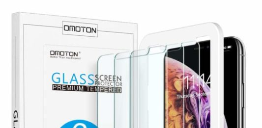 10. OMOTON Tempered Glass Screen Protector Compatible with Apple iPhone Xs Max 6.5 inch